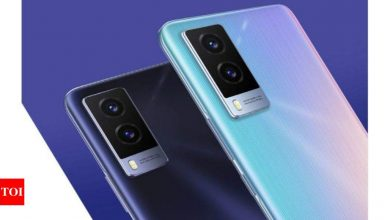 vivo v21e 5g:  Vivo V21e 5G to launch in India on June 24 at 5 pm - Times of India