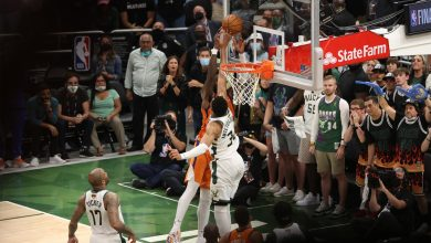 'Spectacular' Giannis Antetokounmpo block was one for the ages