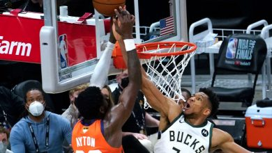 Giannis Antekounmpo on legendary block: 'Incredible' what body can do