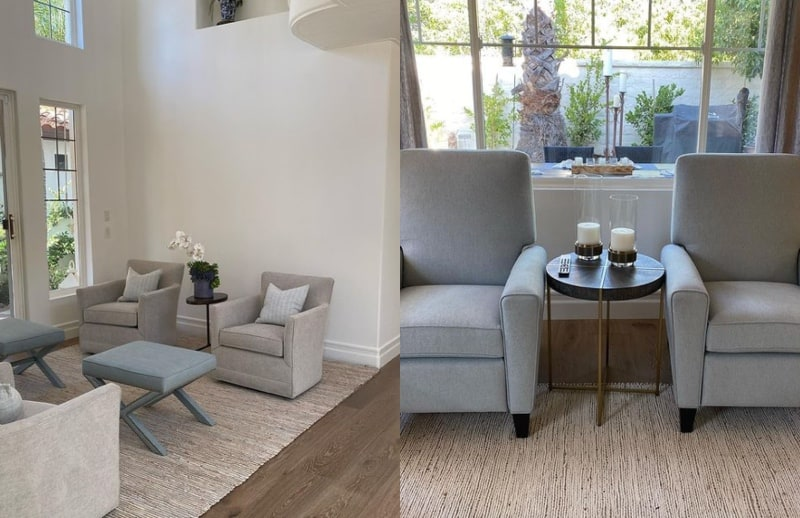 RHOC Vicki Gunvalson Shows Off New Home Living Room and Sitting Area