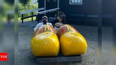 Ariana Grande shares photos from her honeymoon with husband Dalton Gomez - Times of India