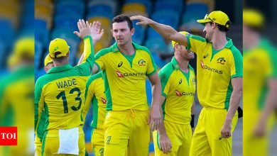 Aussie bowlers shine in ODI series win over West Indies   Cricket News - Times of India