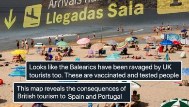 British tourists slammed for 'ravaging' Spain as Covid cases spike by 12,000