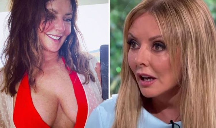 Carol Vorderman reacts to negative comments after boob-baring bikini display sparks frenzy