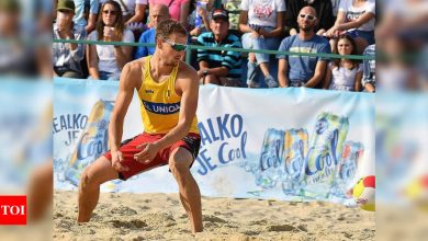 Czech beach volleyball player tests positive in Olympic Village | Tokyo Olympics News - Times of India