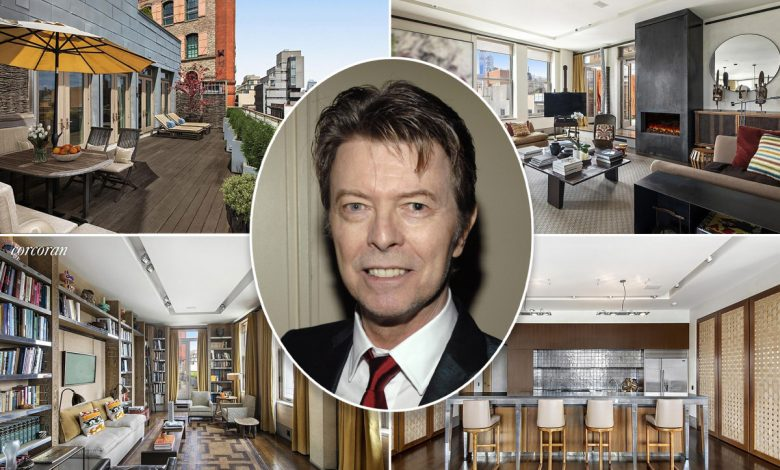 David Bowie's longtime NYC apartment sells for $16.8M 5 years after death