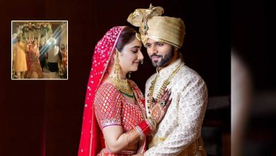 Rahul Vaidya & Disha Parmar Wedding Look Magical As They Get Showed By Flowers & The Singer Goes Down On His Knee
