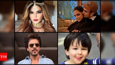Exclusive video! Rakhi Sawant wants to play Taimur's mother's role, Shah Rukh Khan to cast her in 'Main Hoon Na 2', Ranveer Singh-Deepika Padukone to have a baby - Times of India