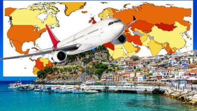 Greece holiday: Travel warning as Rhodes and Santorini turn red on Europe's infections map