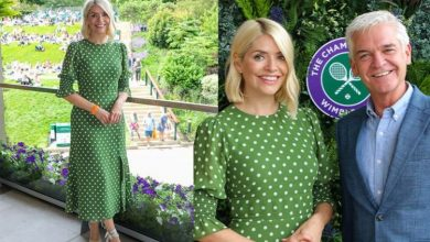 Holly Willoughby turns heads at Wimbledon hours after sharing very different look online