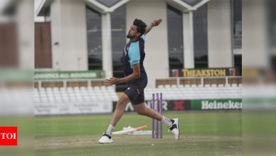 Indian bowlers sweat it out in nets ahead of England Test series   Cricket News - Times of India