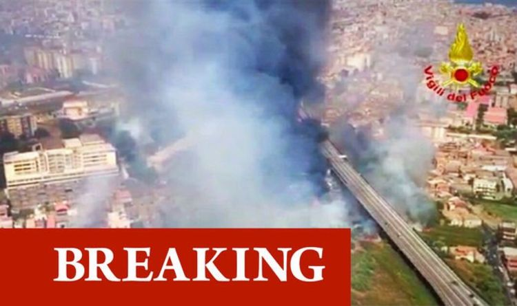 Italy fire: Holiday hell as hundreds of tourists evacuated in Sicily