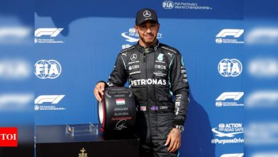 Lewis Hamilton takes pole position for Hungarian Grand Prix | Racing News - Times of India