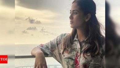 Mira Rajput shares a glimpse of the city as she poses in the balcony of her new Worli home - Times of India