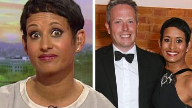 Naga Munchetty mortified when husband 'bent over double' with laughter at her appearance
