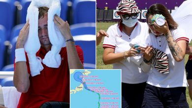 Olympians face scorching heat, potential typhoon as Games shoulder on