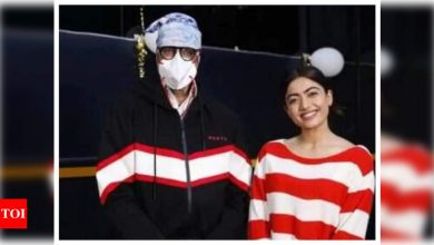 PIC INSIDE! Amitabh Bachchan's FIRST LOOK from 'Goodbye' co-starring Rashmika Mandanna leaked on social media - Times of India