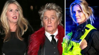 Penny Lancaster says husband Rod 'couldn't sleep until she came home' at start of new job