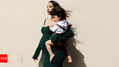 Person comments 'baby will be cursed' on Lisa Haydon's post; she gives him a one word reply - Times of India