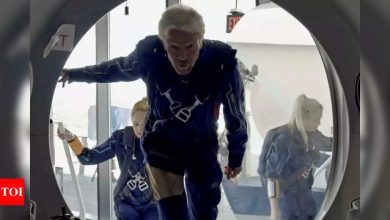 Richard Branson ready for space launch aboard rocket plane - Times of India