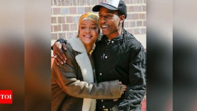 Rihanna all smiles as she cuddles up with A$AP Rocky while filming together in NYC - Times of India