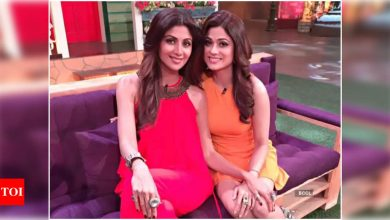 Shamita Shetty wishes luck to sister Shilpa Shetty as her comeback film releases; 'U've emerged stronger and this too shall pass' - Times of India