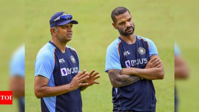 Shastri and Dravid have different styles of motivating players, says Dhawan | Cricket News - Times of India