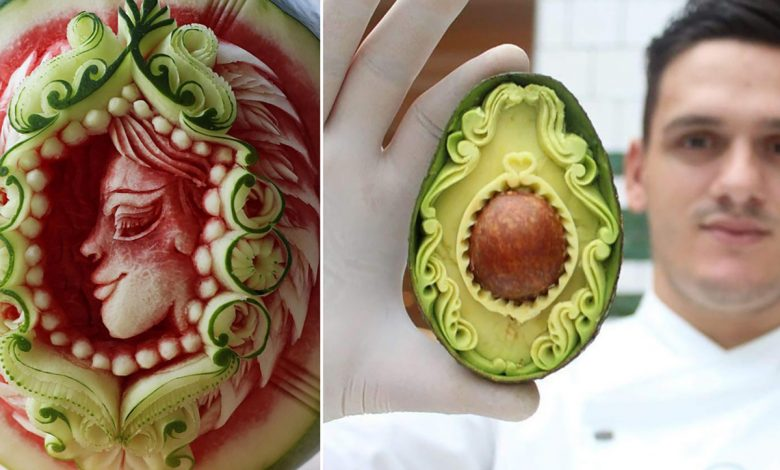 This chef's intricate food carvings attract Instagram fans worldwide