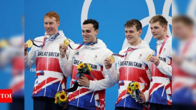 Tokyo Olympics 2020: Britain win men's 4x200m freestyle relay gold | Tokyo Olympics News - Times of India