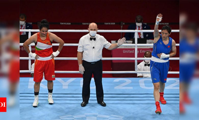 Tokyo Olympics: Boxer Pooja Rani bows out after losing to Li Qian in quarters   Tokyo Olympics News - Times of India