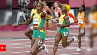 Tokyo Olympics: Thompson-Herah leads Jamaican sweep of women's 100m | Tokyo Olympics News - Times of India