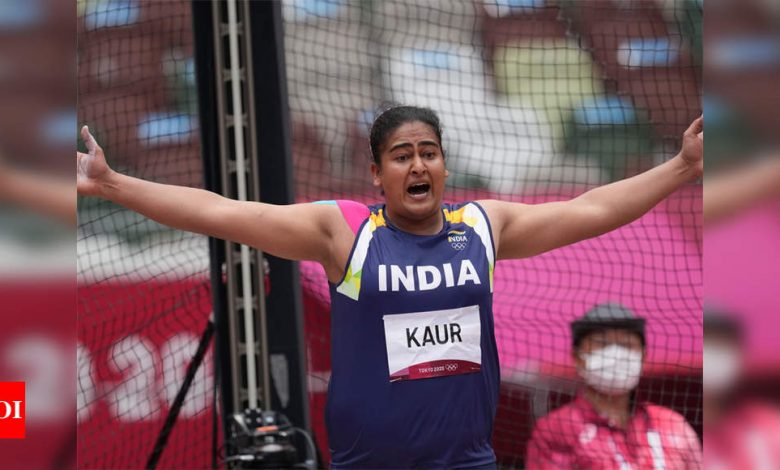 Tokyo Olympics: When Kamalpreet was throwing the discus to enter the final, Rakhi Tyagi was coaching her from Patiala   Tokyo Olympics News - Times of India