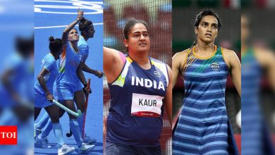Tokyo Olympics: Women's hockey team in QFs, Kamalpreet in discus final; losses for Sindhu, Panghal | Tokyo Olympics News - Times of India