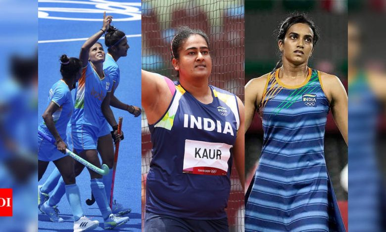 Tokyo Olympics: Women's hockey team in QFs, Kamalpreet in discus final; losses for Sindhu, Panghal   Tokyo Olympics News - Times of India