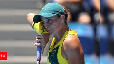Tokyo Olympics: World No. 1 Ashleigh Barty knocked out in 1st round   Tokyo Olympics News - Times of India