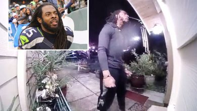 Video shows Richard Sherman trying to force way into in-laws' house