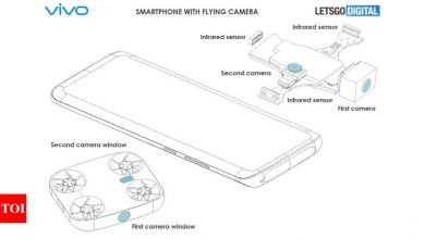 Vivo patents a smartphone with a drone inside - Times of India