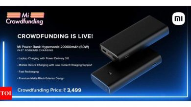 Xiaomi launches Mi HyperSonic power bank with 20,000mAh battery capacity and 50watt fast charging - Times of India