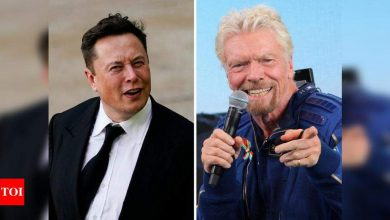 """elon musk:  Elon Musk calls this image shared by Richard Branson """"brutal"""" - Times of India"""
