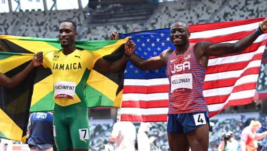 USA's Grant Holloway upset,  settles for silver in 110-meter hurdles