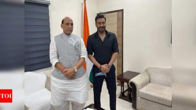 Ajay Devgn meets Defence Minister Rajnath Singh as 'Bhuj The Pride of India' releases - Times of India