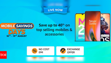 Amazon Mobile Saving Days sale: Deals and discount on smartphones from Oneplus, Xiaomi, Samsung and others - Times of India