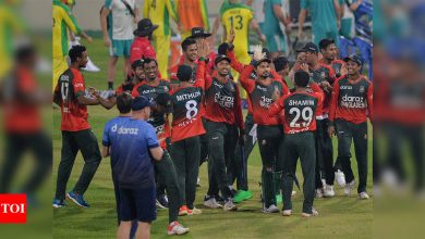 Bangladesh dismiss Australia for their lowest T20I total of 62, seal series 4-1 | Cricket News - Times of India