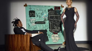 Beyoncé and Jay-Z sparked controversy online after appearing in a Tiffany ad campaign that featured a never-before-seen Basquiat painting.