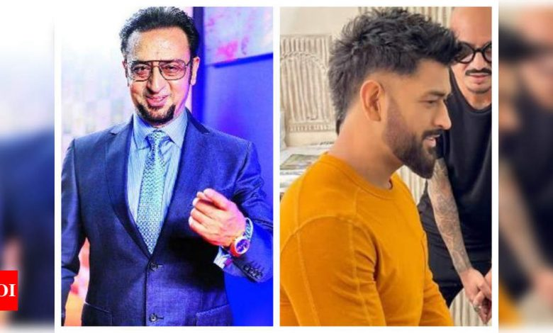 Gulshan Grover is both impressed and threatened by MS Dhoni's new look, asks him not to take up any 'Don roles' - Times of India