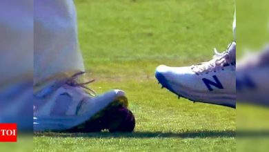 India vs England: English player seen with spikes on ball, Aakash Chopra asks if it is tampering   Cricket News - Times of India
