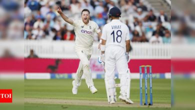India vs England: Plan for Virat Kohli was always to bowl fourth-stump line and it worked, says Ollie Robinson | Cricket News - Times of India