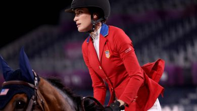 Jessica Springsteen, US equestrian team win silver in team jumping