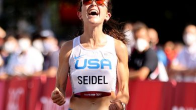 Molly Seidel wins bronze in marathon for first US medal in event since 2004