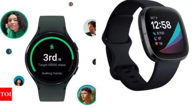 Samsung's exclusive watch for Android users, here's how it compares to closest rival Fitbit Sense - Times of India
